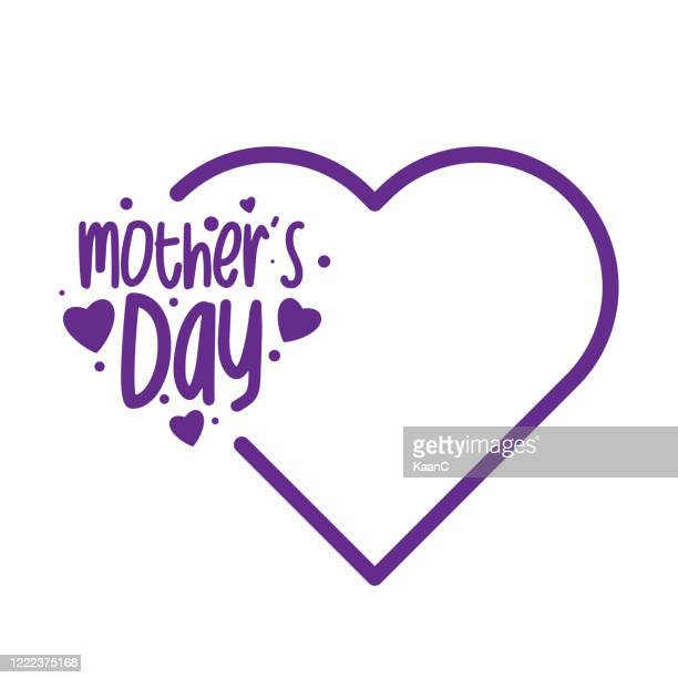 happy mothers day lettering. calligraphy text. stock illustration - mothers day stock illustrations