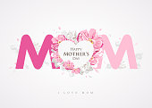 Happy Mother's Day message MOM background greetings card
