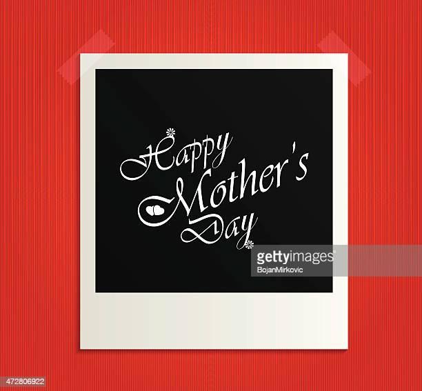 ilustraciones, imágenes clip art, dibujos animados e iconos de stock de feliz día de la madre marco de fotos - aplique arte de la costura