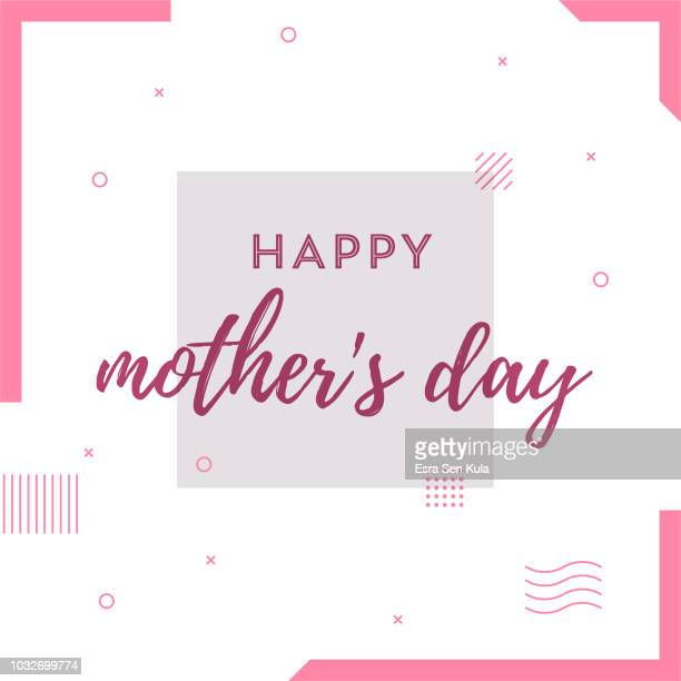happy mother's day retro web banner for social media - mothers day stock illustrations