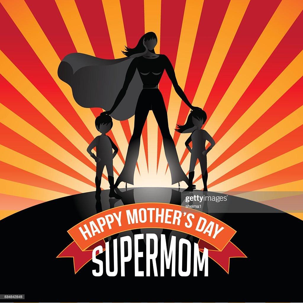 Happy Mothers Day Supermom burst