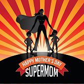 Happy Mothers Day Supermom burst