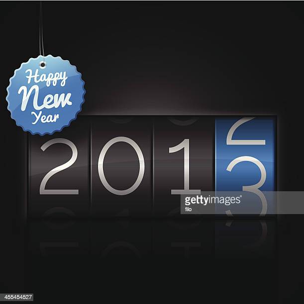 happy new year 2013 - odometer stock illustrations, clip art, cartoons, & icons