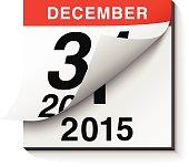 Happy New Year 2015 Calendar
