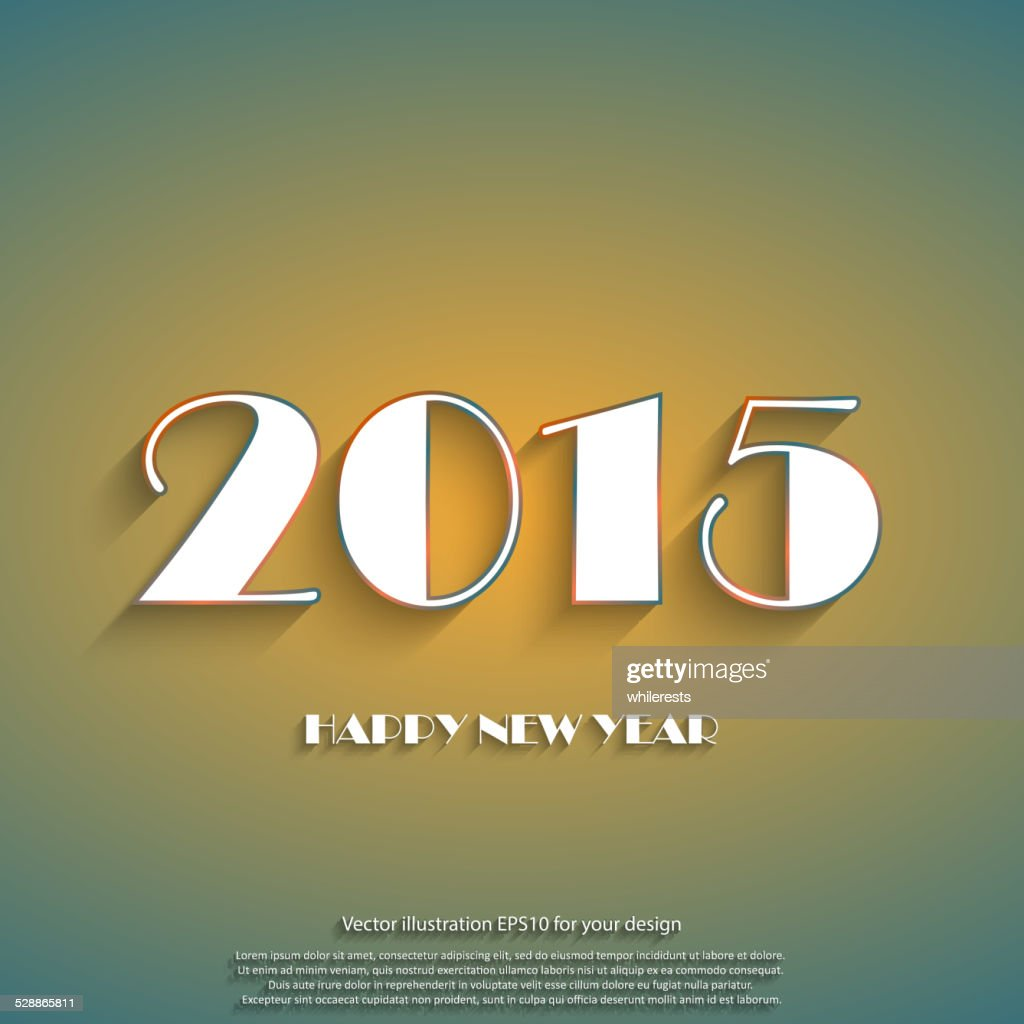 Happy New Year 2015 Creative Greeting Card Design Vector Art Getty