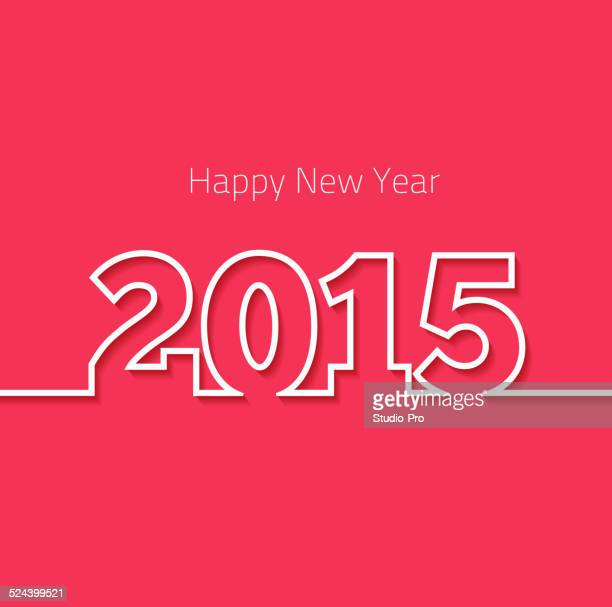 happy new year 2015 design - 2015 stock illustrations, clip art, cartoons, & icons