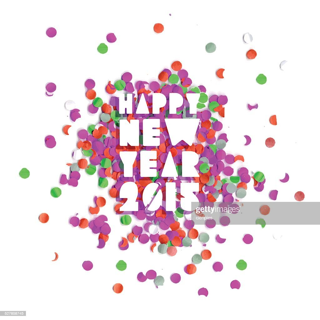 Happy new year 2015 party card