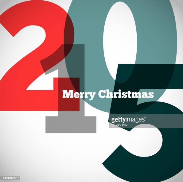 Heureuse nouvelle année 2015 design rétro