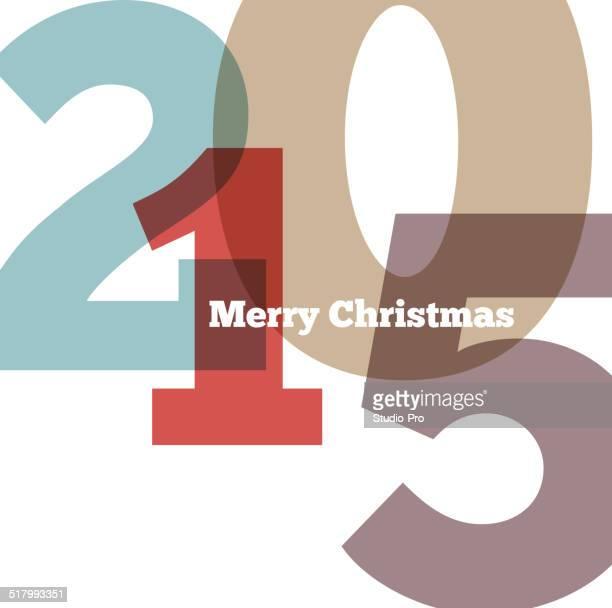 Happy new year 2015 retro design