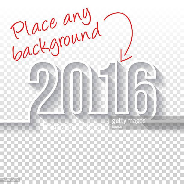 happy new year 2016 design - blank backgroung - 2016 stock illustrations, clip art, cartoons, & icons