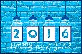 happy new year 2016 design
