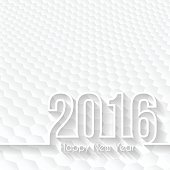 happy new year 2016 - Hexagons Background, Design Illutration