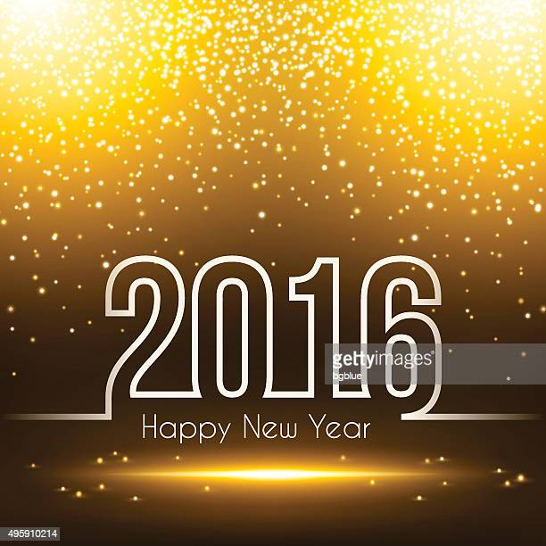 happy new year 2016 - sparkly background - 2016 stock illustrations, clip art, cartoons, & icons