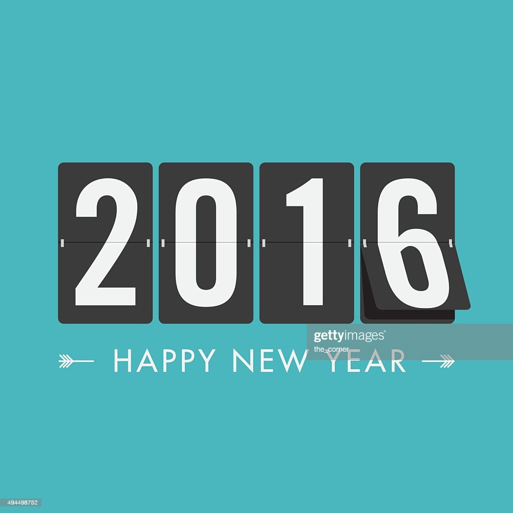 Happy new year 2016 timetable