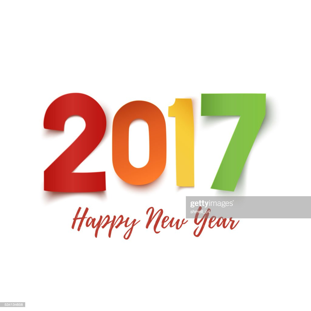 Happy New Year 2017 background template.