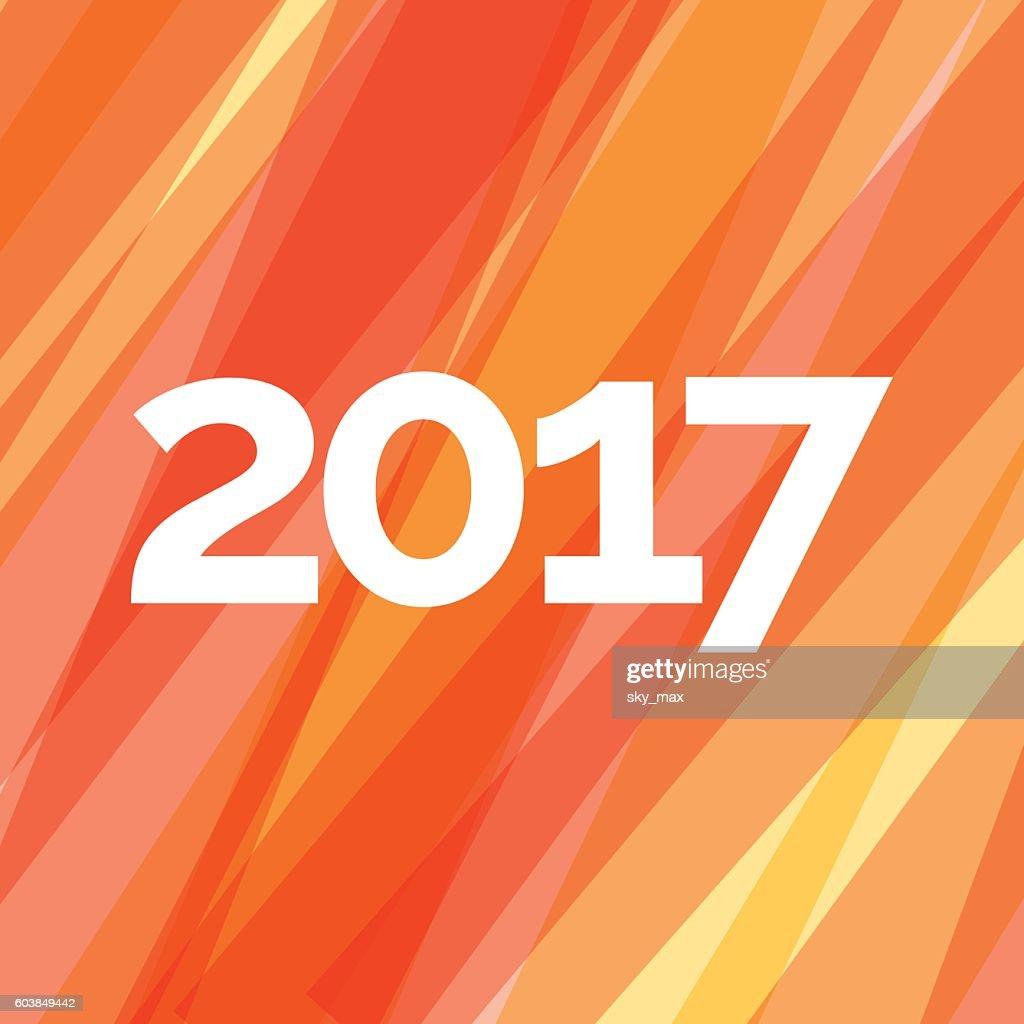 Happy New Year 2017 Creative Greeting Card Design Vector Art Getty