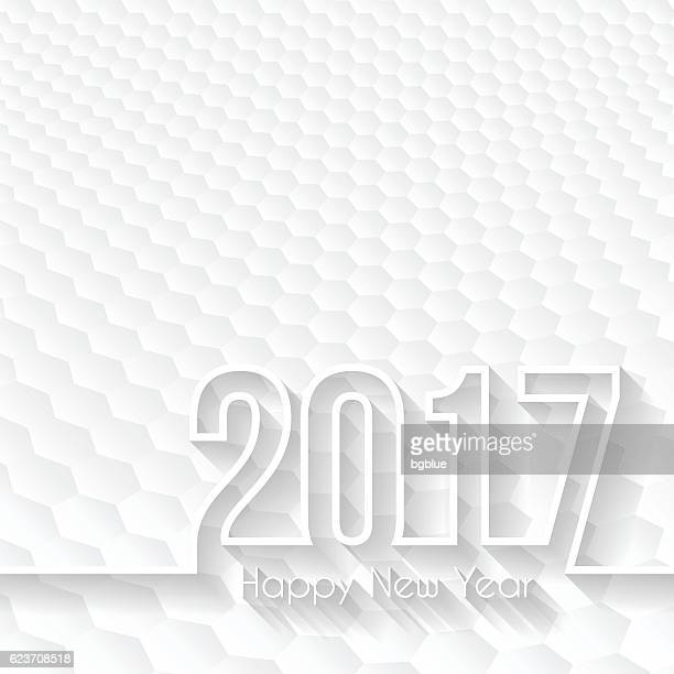 happy new year 2017 - Hexagons Background, Design Illutration