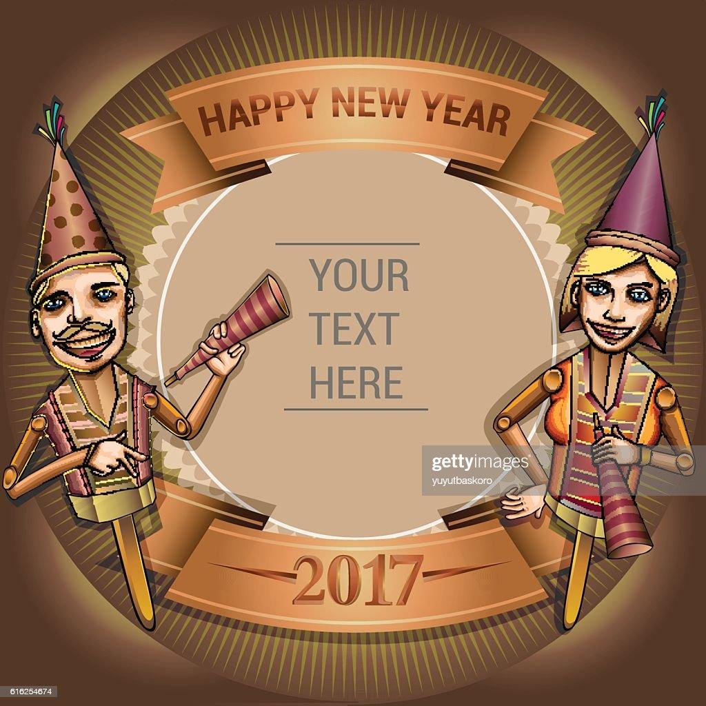 Feliz Ano Novo de 2017 : Arte vetorial