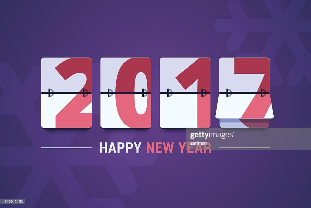 Happy New Year 2017 vector illustration.