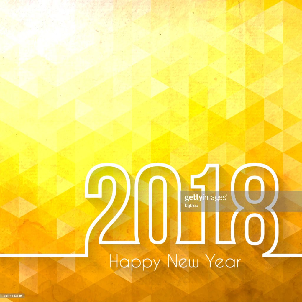 happy new year 2018 abstract geometric background vector art