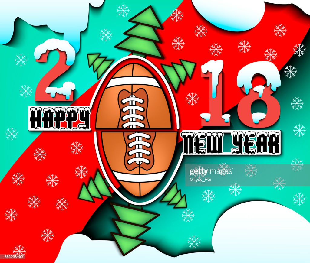 happy new year 2018 and football