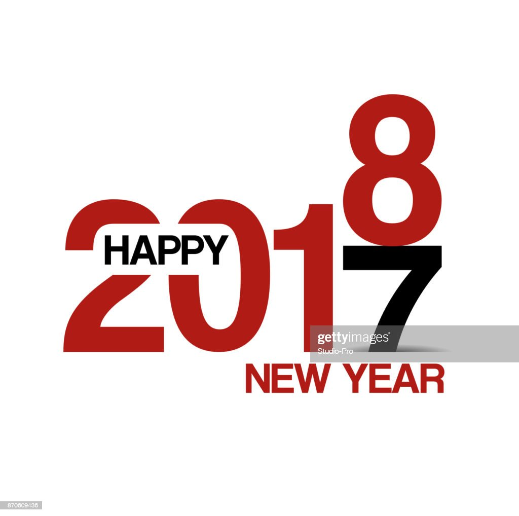 happy new year 2018 background for your christmas vector art