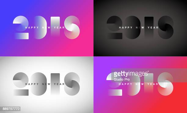 happy new year 2018 background for your christmas - number stock illustrations