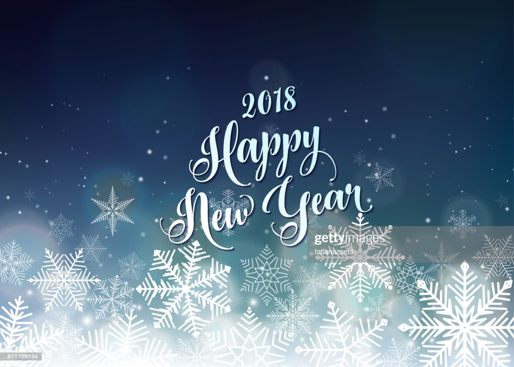 happy new year 2018 banner seasons greetings card vector art