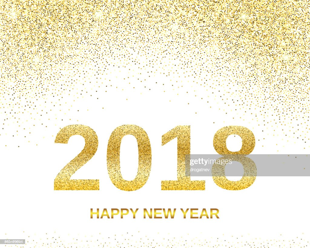 happy new year 2018 banner vector art
