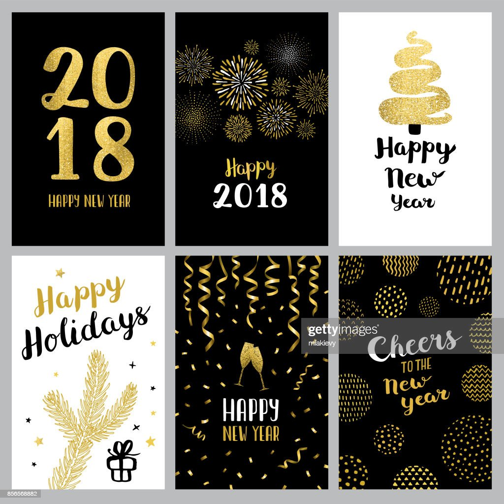 happy new year 2018 banners vector art