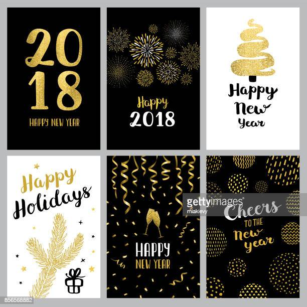 happy new year 2018 banners - sparks stock illustrations, clip art, cartoons, & icons
