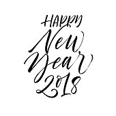 Happy New Year 2018 card.