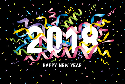 Happy new year 2018 confetti - gettyimageskorea