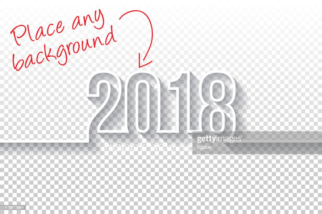 Happy new year 2018 Design - Blank Backgroung