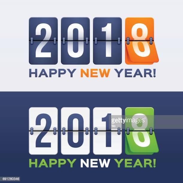 Joyeux nouvel an 2018 Flip Clock