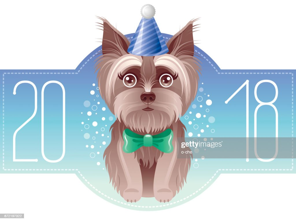 happy new year 2018 greeting card chinese new year dog symbol oriental holiday isolated white background poster invitation design