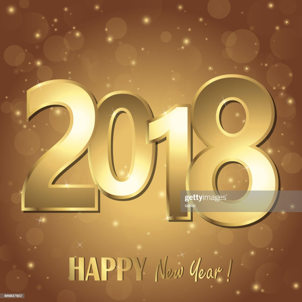 happy new year 2018 greetings background vector art