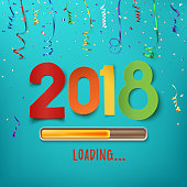 Happy New Year 2018 loading.