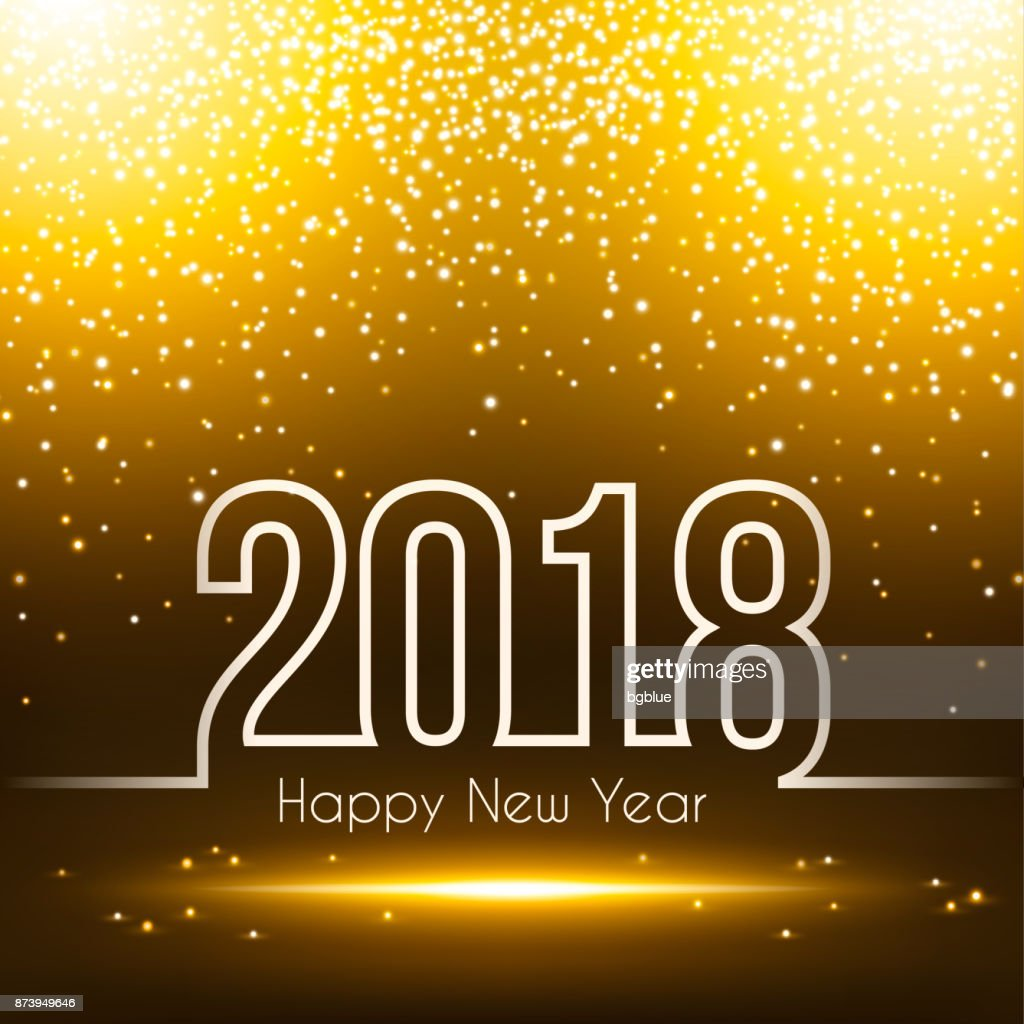 happy new year 2018 sparkly background vector art