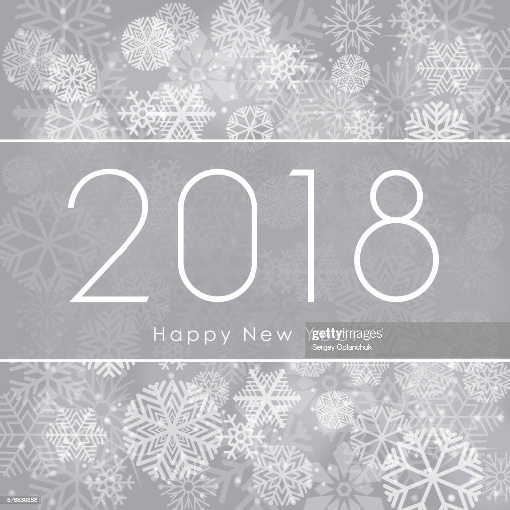 Happy New Year 2018 Textgestaltung Gruß Abbildung Mit Weißen Zahlen ...