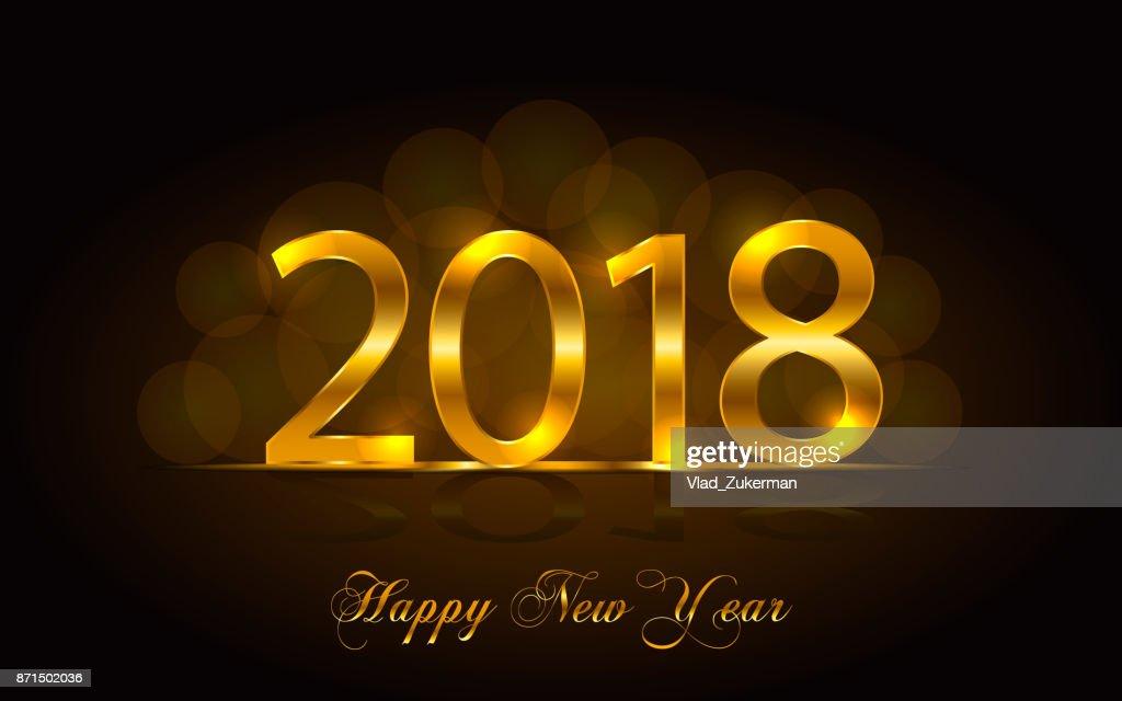 Happy New Year 2018. Vector Background : Vector Art