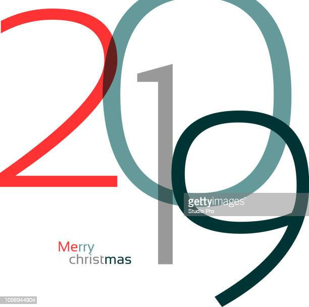happy new year 2019 background for your christmas - 2019 stock illustrations