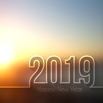 Happy new year 2019 - Blurred Sunset or Sunrise - gettyimageskorea