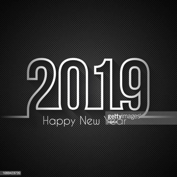 Happy new year 2019 - Carbon Fiber Texture