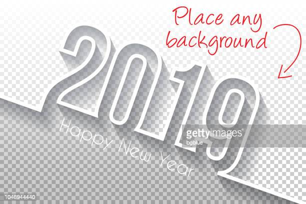 happy new year 2019 design - blank backgroung - length stock illustrations