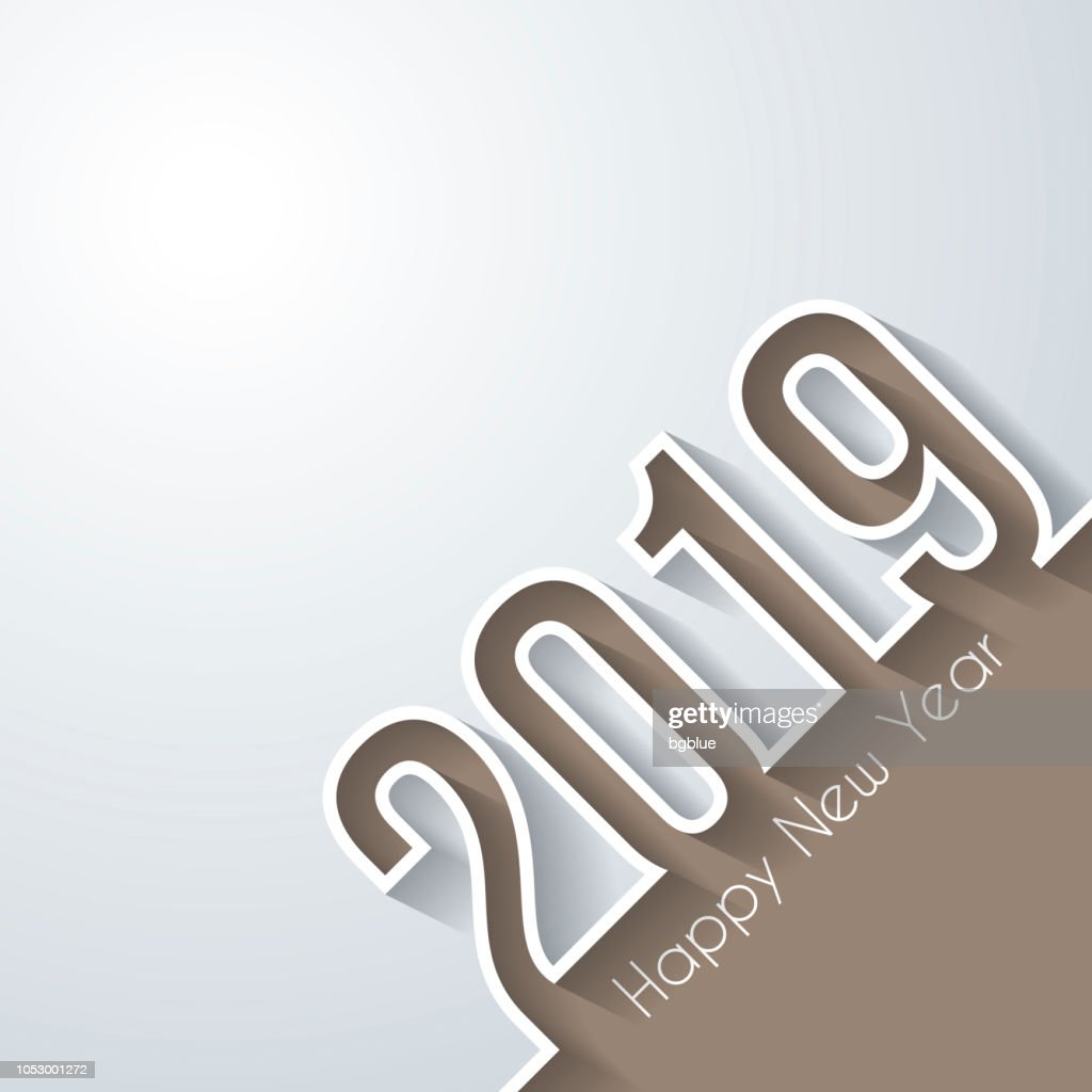 Happy New Year 2019 Design Vector Art | Getty Images