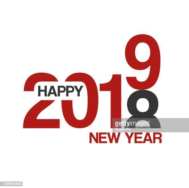 happy new year 2019 lettering background for your christmas - 2019 calendar background stock illustrations