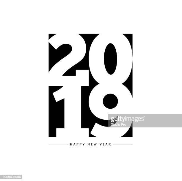 ilustrações de stock, clip art, desenhos animados e ícones de happy new year 2019 lettering background for your christmas - 2019