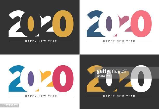 frohes neues jahr 2020 hintergrund für ihr weihnachtsfest - 2020 stock-grafiken, -clipart, -cartoons und -symbole