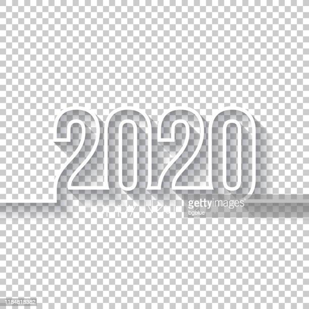 happy new year 2020 design - blank background - 2020 stock illustrations